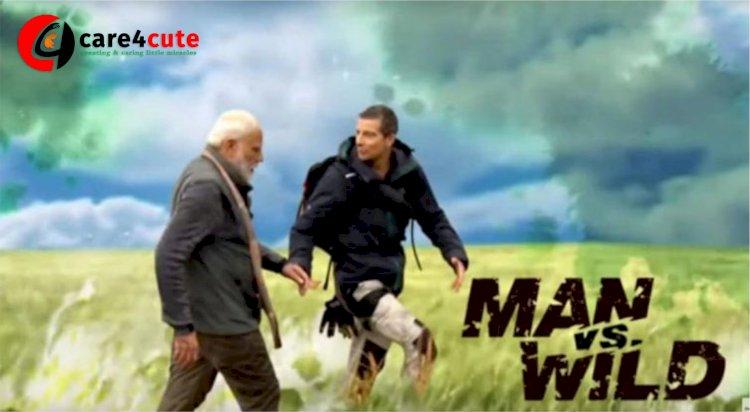 PM Narendra Modi with Bear Grylls in 'Man Vs Wild'